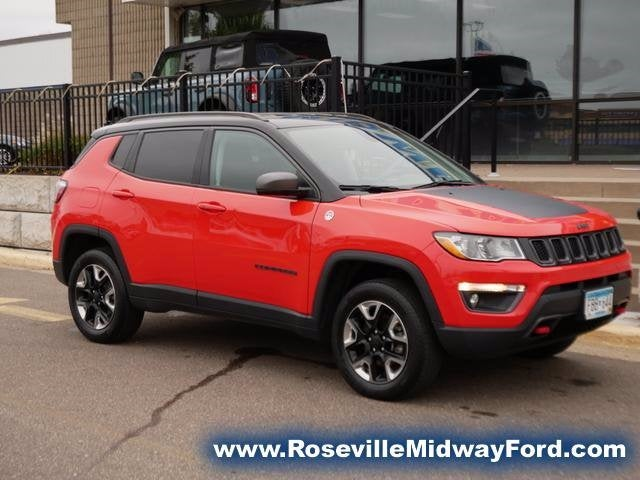 Used 2018 Jeep Compass Trailhawk with VIN 3C4NJDDB7JT232010 for sale in Roseville, Minnesota